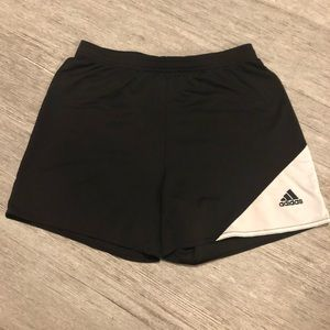 Adidas Climalite athletic shorts black and white